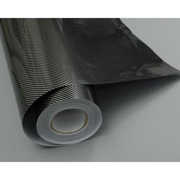 Пленка под карбон 2d серочерный прямоуг 1.27м #8001