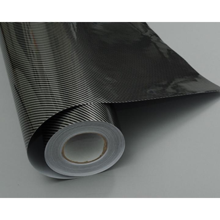 Пленка под карбон 2d серочерный прямоуг 1.52м #8001