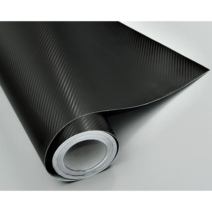 Пленка под карбон 3d черная (крупная текстура) #1001