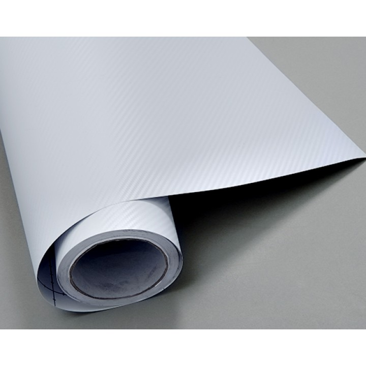 Пленка под карбон 3d белая, 1.52м #1007