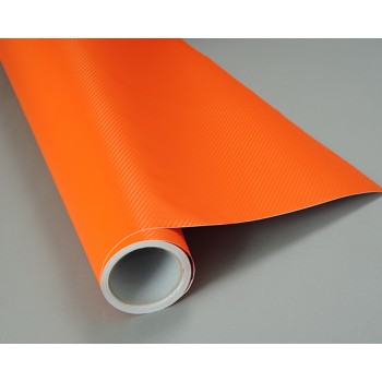 Пленка под карбон 3d оранжевая 1.52м #1014
