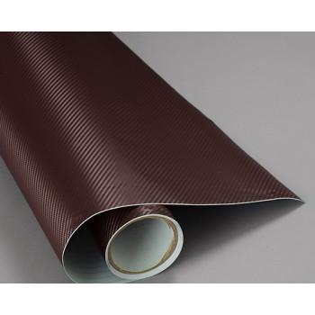 Пленка под карбон 3d коричневая, 1.27м #1051