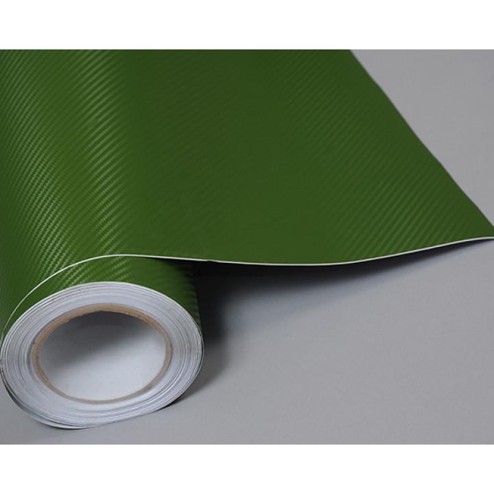 Пленка под карбон 3d зеленая, 1.27м #1062