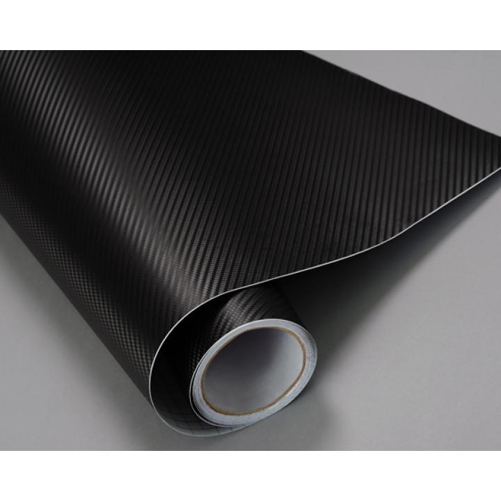 Пленка под карбон 3d черная CF Air Channel (крупная текстура) #2001