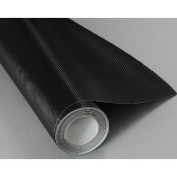 Пленка под карбон 3d черная CF Air Channel (мелкая текстура) #2002