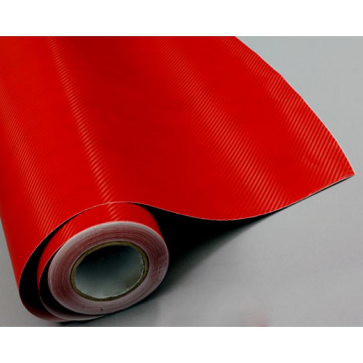 Пленка под карбон 3d красная CF Air Channel #2009
