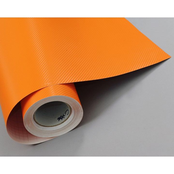 Пленка под карбон 3d оранжевая CF Air Channel (УЦЕНКА) #2011