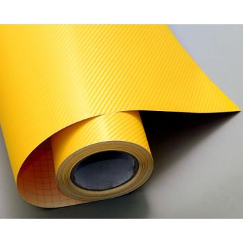 Пленка под карбон 3d желтая CF Air Channel #2012