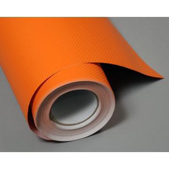 Пленка под карбон 4d оранжевая (Soulide) #8053