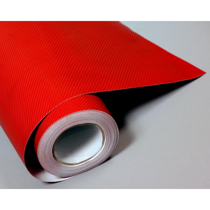 Пленка под карбон 4d красная (Soulide) #8058