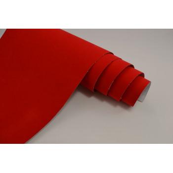 Самоклеющаяся алькантара красная (Soulide) #5053