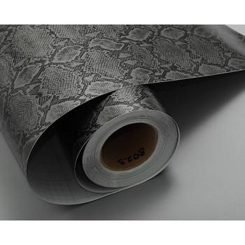 Пленка под кожу питона серо-черного цвета #8023