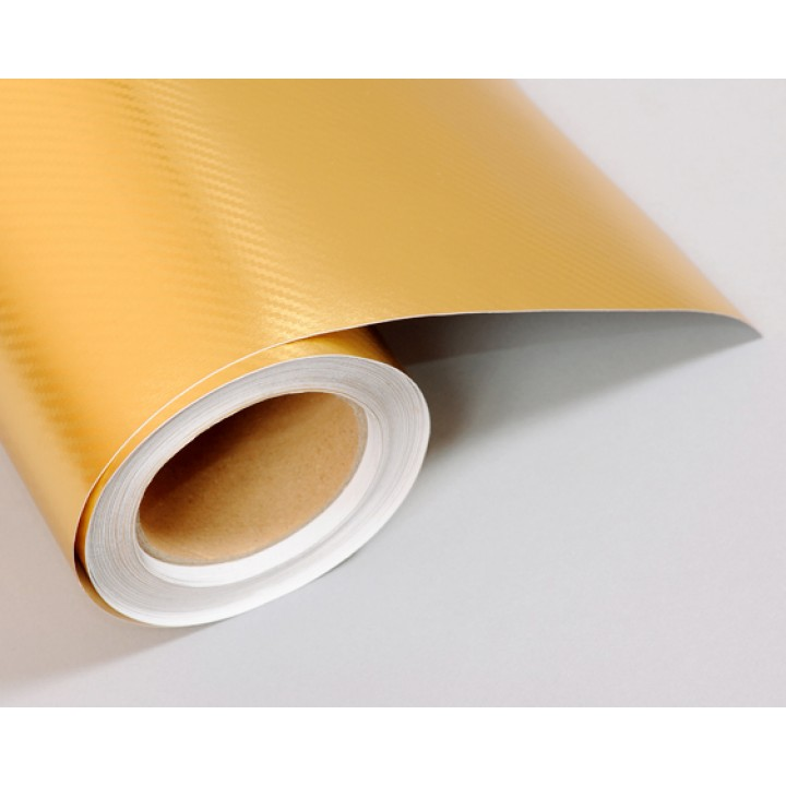 Пленка хром карбон gold #3003