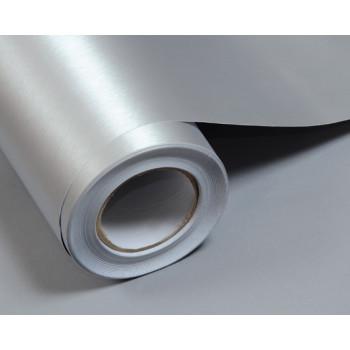 Пленка под шлифованный алюминий серебро #8011
