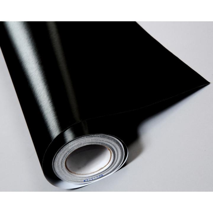 Пленка под шлифованный алюминий черная #8015