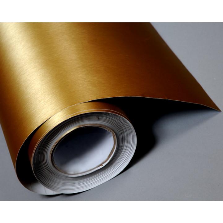 Пленка под шлифованный алюминий золото #8016