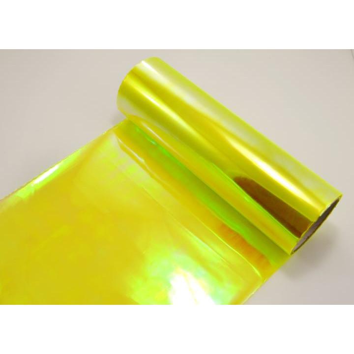 Пленка хамелеон для тонировки фар неоново-желтая 0.3м #9056