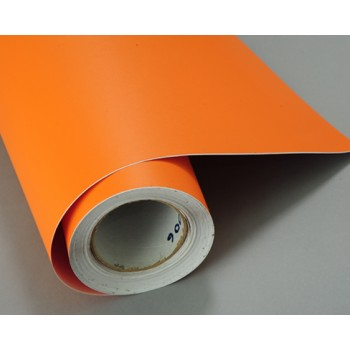 Структурная матовая пленка оранжевого цвета (супермат) (Soulide) #6006