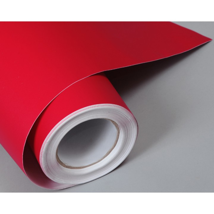 Структурная матовая пленка красного цвета (супермат) (Soulide) #6007