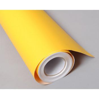 Структурная матовая пленка желтого цвета (супермат) (Soulide) #6010
